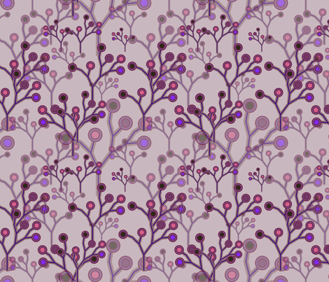 Winter Forest Berries fabric by jasmo on Spoonflower - custom fabric