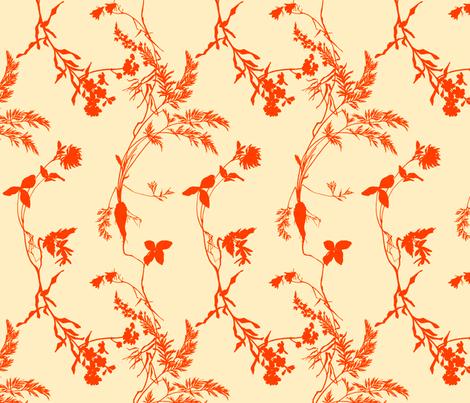orange florae fabric by narthex on Spoonflower - custom fabric