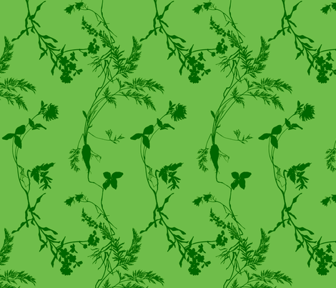 green florae fabric by narthex on Spoonflower - custom fabric