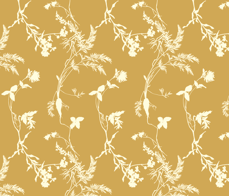 tan florae fabric by narthex on Spoonflower - custom fabric
