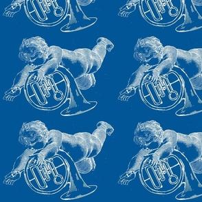 Wieckenberger Waldhornengel, blau/weiß,-ch