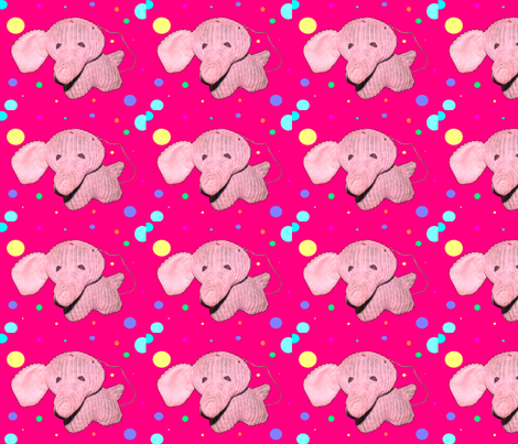 Whimsicle Elephant Missing an Ear Print fabric by karen_m_ on Spoonflower - custom fabric