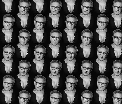 Boob Kissinger fabric by dynomoose on Spoonflower - custom fabric
