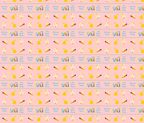 Say What Baby fabric by nettlej on Spoonflower - custom fabric