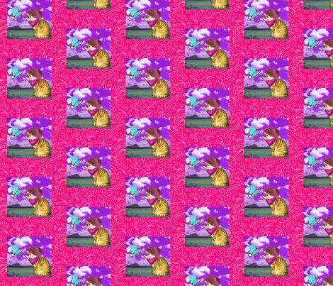 kitty cowboy 2 fabric by razberries on Spoonflower - custom fabric