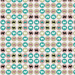 Pug Fabric Pugs in circles wall paper and fabric