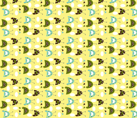 Here chickee chickee fabric by cutiepoops on Spoonflower - custom fabric
