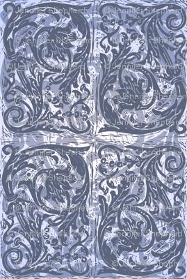 Baroque Curlicue in Blue