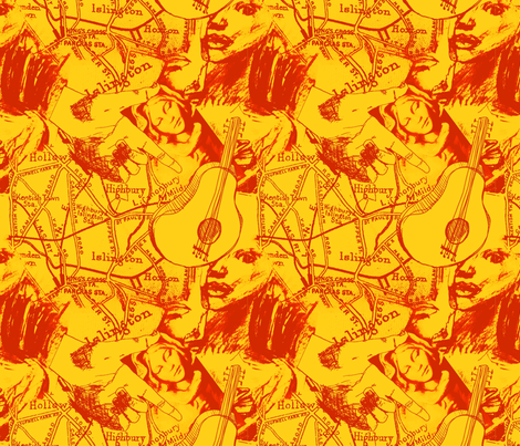 collage (guitar) fabric by narthex on Spoonflower - custom fabric