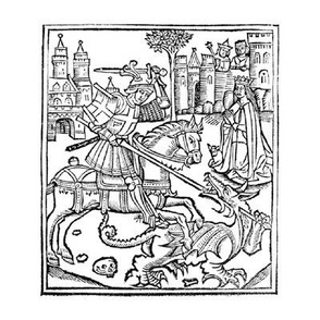 st george woodcut