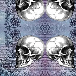 Skull Rose in Lavender (TIF)