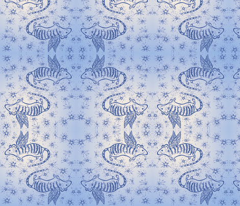 Angel Mouse fabric by jenithea on Spoonflower - custom fabric