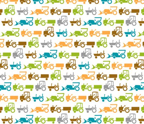 tractor factor fabric by bubbledog on Spoonflower - custom fabric