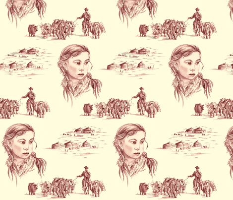 steppes fabric by thelazygiraffe on Spoonflower - custom fabric
