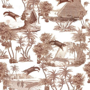 Giant flying squirrel attack toile-TAUPE