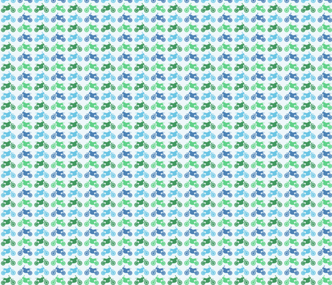 Dirt Bikes - blues and greens fabric by jesseesuem on Spoonflower - custom fabric