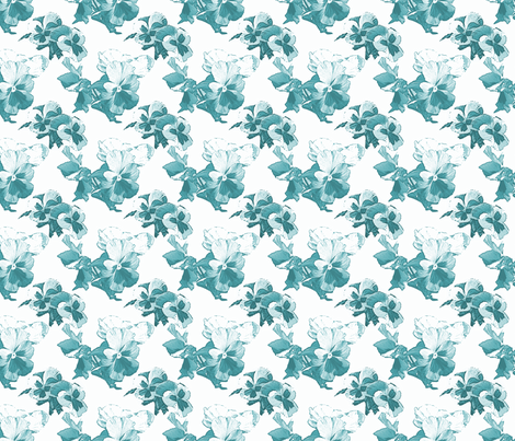 blue pansy fabric by ali_c on Spoonflower - custom fabric