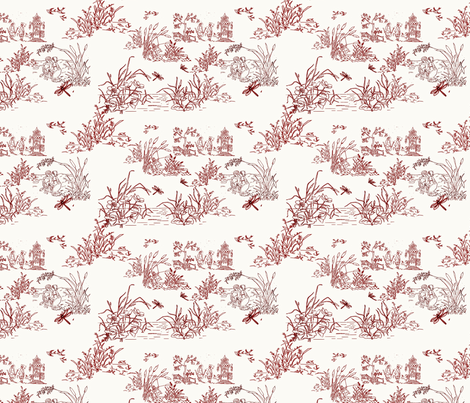 cattail toile fabric by withonethread on Spoonflower - custom fabric