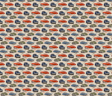 Retro Cars fabric by themagpiecat on Spoonflower - custom fabric