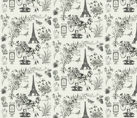toile_noir fabric by marnielong on Spoonflower - custom fabric