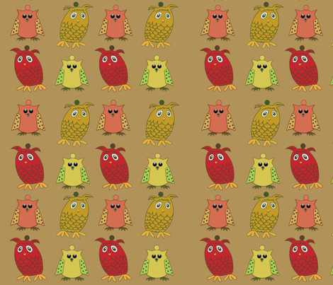 Owl Ornies fabric by cherie on Spoonflower - custom fabric