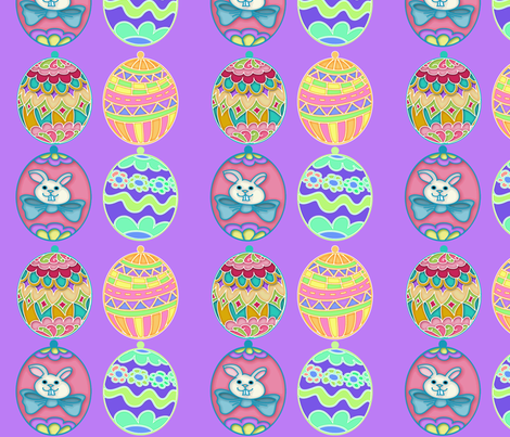 Easter Egg Ornies fabric by cherie on Spoonflower - custom fabric