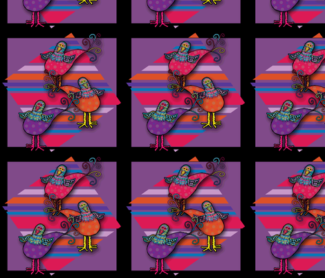 Birds fabric by cherie on Spoonflower - custom fabric