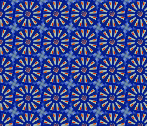 Blue Daisy Knot fabric by fit2betied on Spoonflower - custom fabric