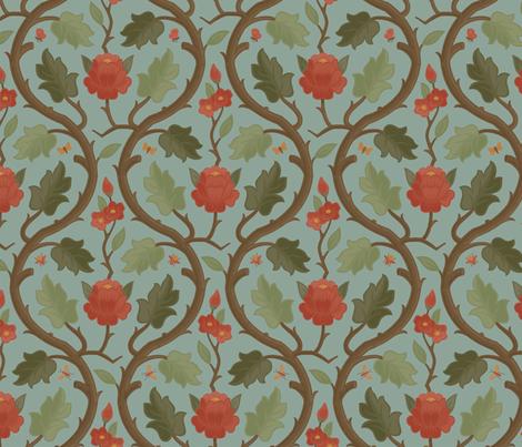 Forest Serpentine 1b fabric by muhlenkott on Spoonflower - custom fabric
