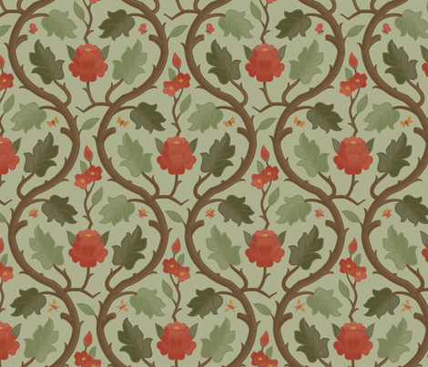 Forest Serpentine 1c fabric by muhlenkott on Spoonflower - custom fabric