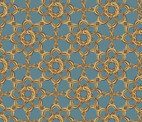 Rosettes Grand - Duck Egg Blue fabric by kristopherk on Spoonflower - custom fabric
