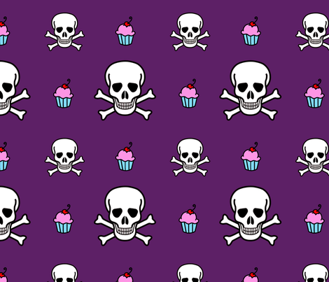 Poison skullycake fabric by tallulah on Spoonflower - custom fabric