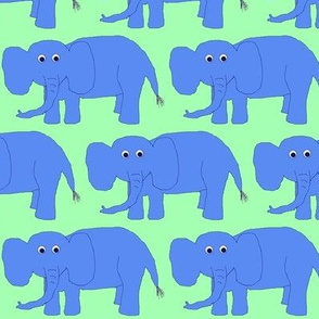 Blue Baby Elephants