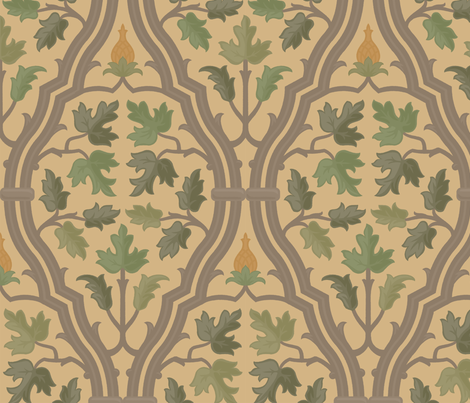 Forest Serpentine 2d fabric by muhlenkott on Spoonflower - custom fabric