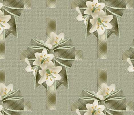 Calla Lilly Cross fabric by jennbd on Spoonflower - custom fabric