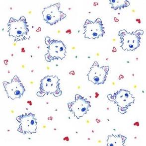 Westie Crayon Cuties