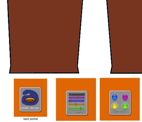 brown_Full_Pockets_Pants_by_Jojoebi fabric by jojoebi_designs on Spoonflower - custom fabric