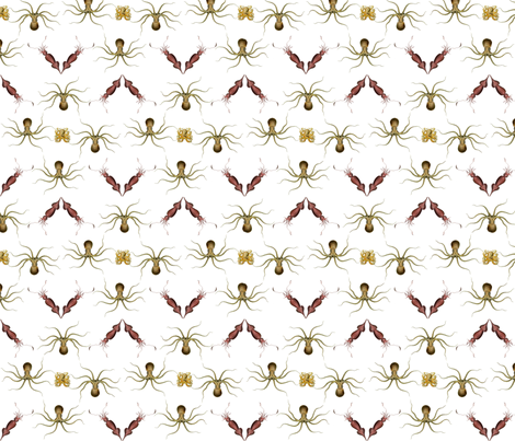 dance of the cephalopods fabric by seakurt on Spoonflower - custom fabric