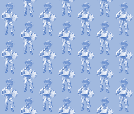 Letter Perfect, blue fabric by nalo_hopkinson on Spoonflower - custom fabric