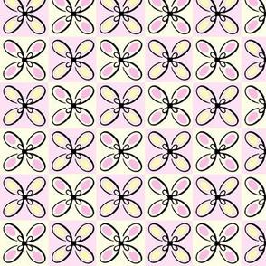 Checker Board Flowers