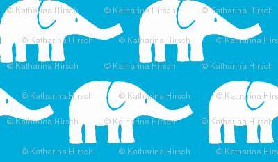 MEDIUM Elephants in teal