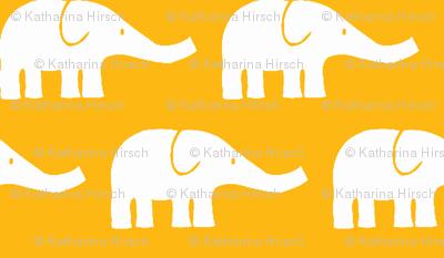 MEDIUM Elephants in yellow