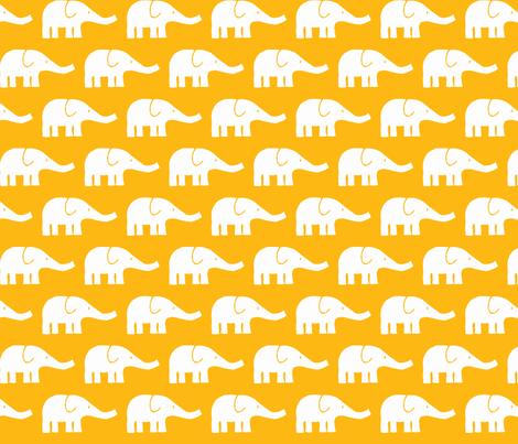 MEDIUM Elephants in yellow fabric by katharinahirsch on Spoonflower - custom fabric