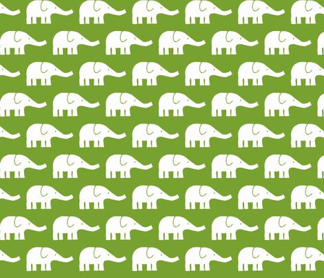 MEDIUM Elephants in green fabric by katharinahirsch on Spoonflower - custom fabric