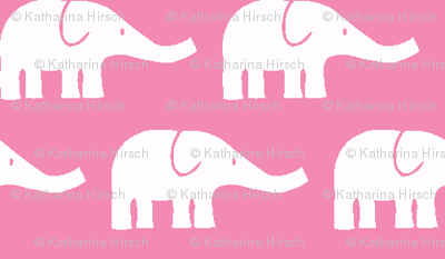 SMALL Elephants pink