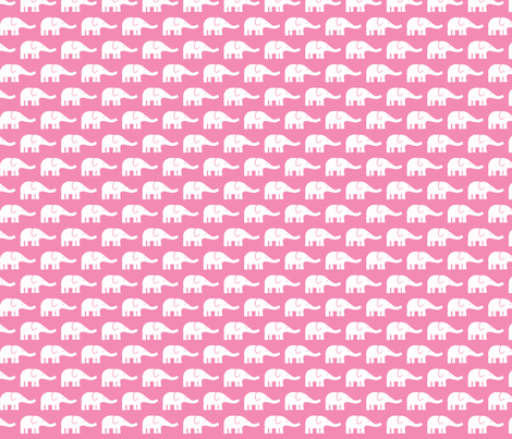 SMALL Elephants pink fabric by katharinahirsch on Spoonflower - custom fabric