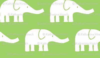 SMALL Elephants green