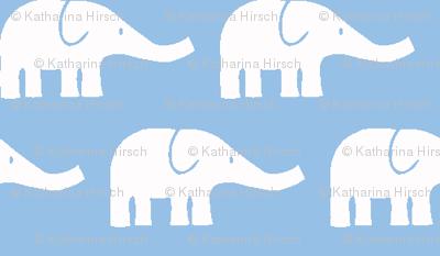 SMALL Elephants light blue