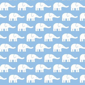 SMALL Elephants light blue