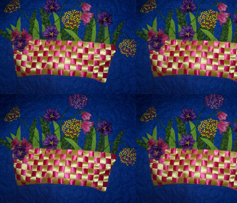 Flower basket 2 fabric by susiesunshine on Spoonflower - custom fabric